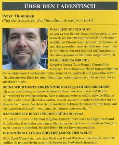 35 Jahre ARCADOS gaybuchladen, Interview in Männer Mai 2012